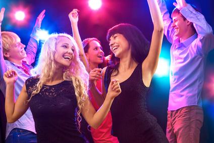 Schüler feiern in Disco