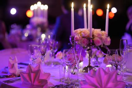 Tisch für Event Party dekoriert