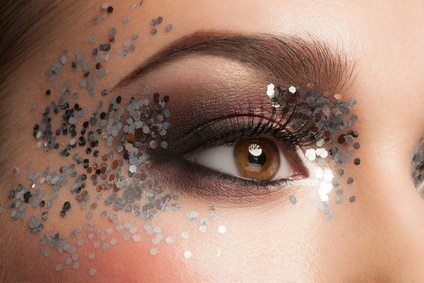 Glitter Augen Make-UP