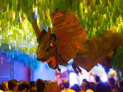 Dinodeko auf einer Feier