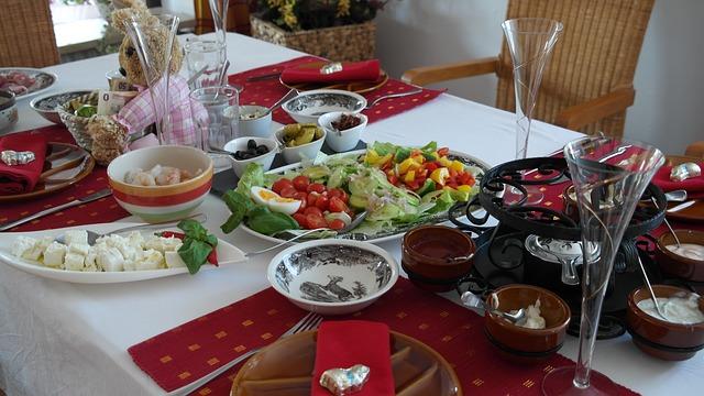Fondue-auf-Famileinfeier