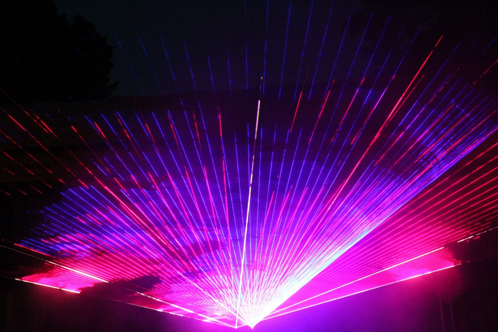 Lasershow-auf-Party
