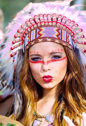 Indianerfrau-Verkleidung