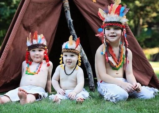 Indianerparty-Kinder